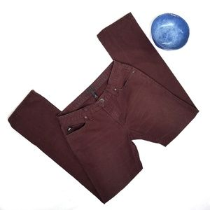 Van's Burgundy Maroon Jeans with Patch